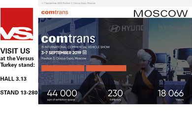 Visit us at Comtrans (Moscow)